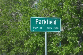 Entering Parkfield