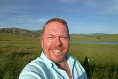 A relaxed Matt enjoying the quieter corners of California