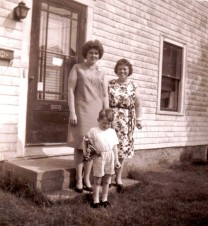 My mother's friend Pat, on the left, with Mama and me...