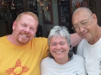 Matt, Lorraine and Guy at Lorraine's Shave Ice