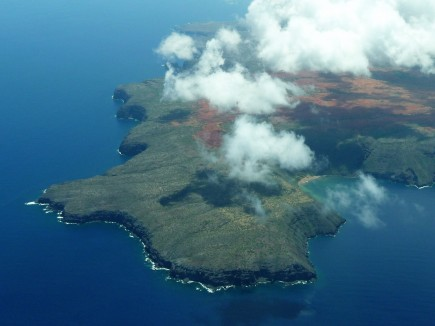 Landing in Paradise... passing Lanai on the descent into Maui