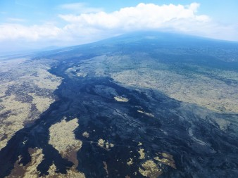 Lava fields cover much of the Big Island. This was taken from a plane as I was heading to Maui