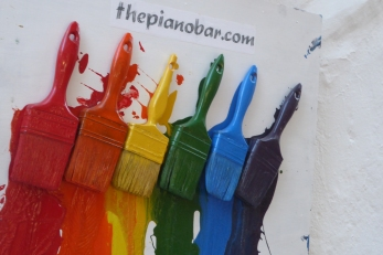 Colorful Mykonos Town