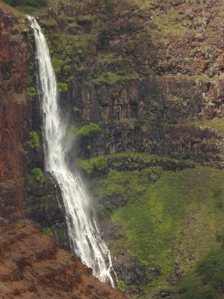 One of the island's amazing waterfalls