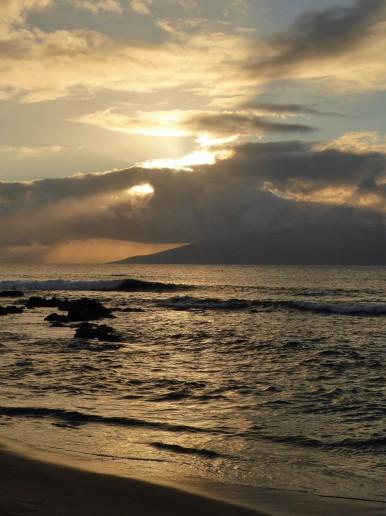 Looking toward Moloka'i from Napili Bay