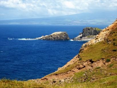 The slopes of Haleakala from north Maui