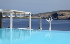 The infinity pool and the Aegean