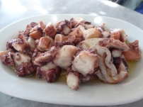 Octopus salad at Kiki's