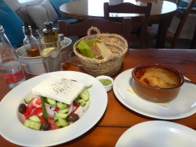 Greek Salad and Moussaka...