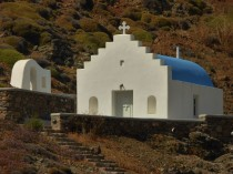 The church above Fokos Beach