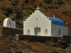 The church above Fokos Beach