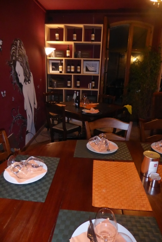 The cozy second dining room
