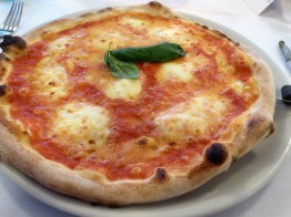 Pizza Margherita.. not a slice of pepperoni in sight!