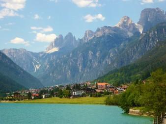 Idyllic Village in the Dolomites