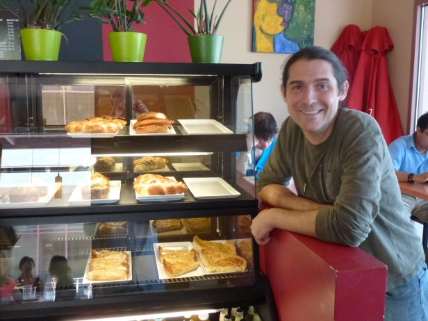 Olivier and his pastries when I first visited in 2012