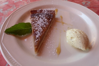 The bright spot... chestnut tart