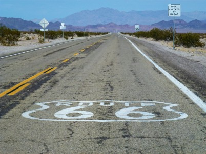 Route 66 near Barstow California