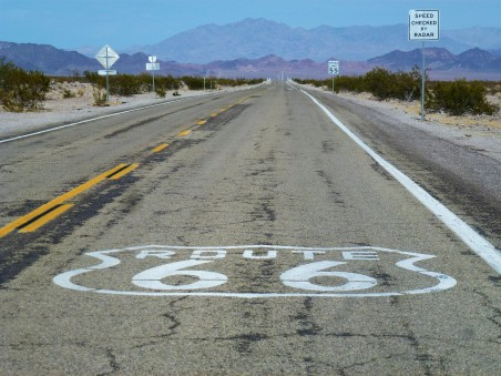 Route 66 near Barstow California