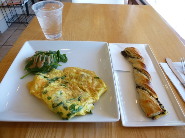 A beautiful breakfast at the Baguette Cafe