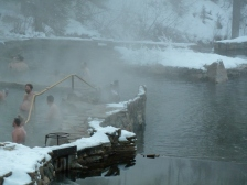 Close-up of the pools at Strawberry, Temperature about 5 degrees Farenheit
