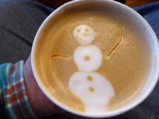 A festive cappuccino at Marisol Cafe, North Dartmouth, MA