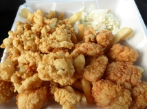Fried Clams and Scallops