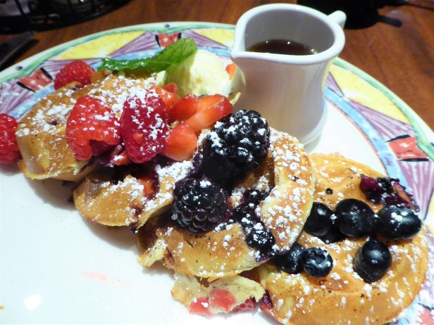 Berry pancakes at Miss Shirley's