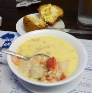 Seafood chowder at Maine Diner