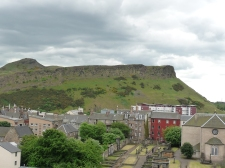 Arthur's Seat, an instinct volcanic peak in Edinburgh