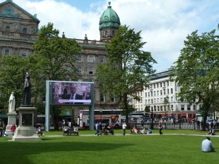 Park in downtown Belfast