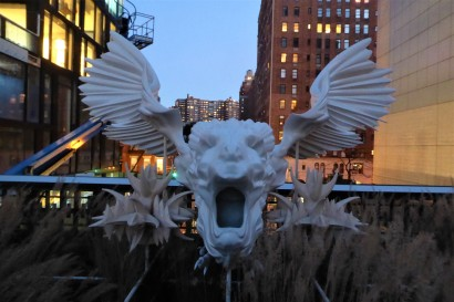 Scary sculpture on the High line