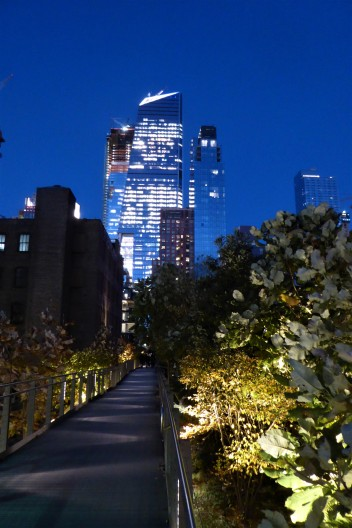 Walking the High Line... and urban garden built on an old elevated railway trestle.
