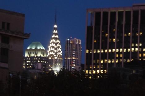 The stunning Chrysler Building