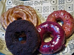 I had to pich FOUR: blood orange, chocolate blackout, wild blueberry, and cranberry-orange. Breakfast of the insane!