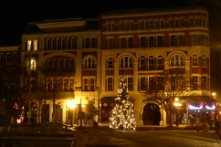 The main square in Meridien, Mississippi