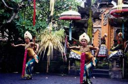 A Balinese dance performance