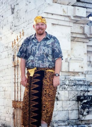 Me in my sarong...