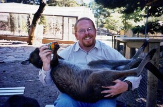 Bottle-feeding a kangaroo!