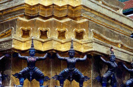 Close up of the ornate palace decor