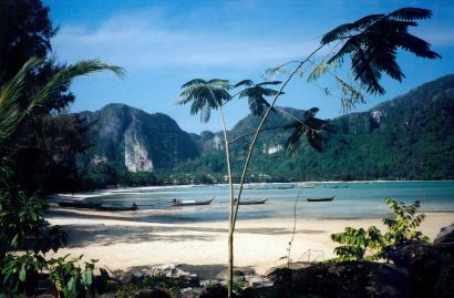 The beach at Phi Phi