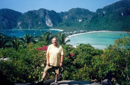 From the lookout point on Phi Phi Island