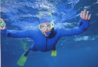 Matt at the Barrier Reef