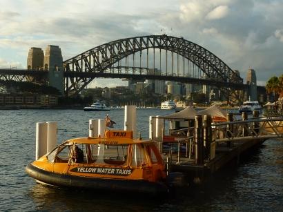 The famous Sydney Harbor Bridge