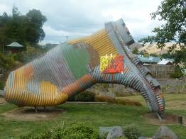 The giant Gumboot statue