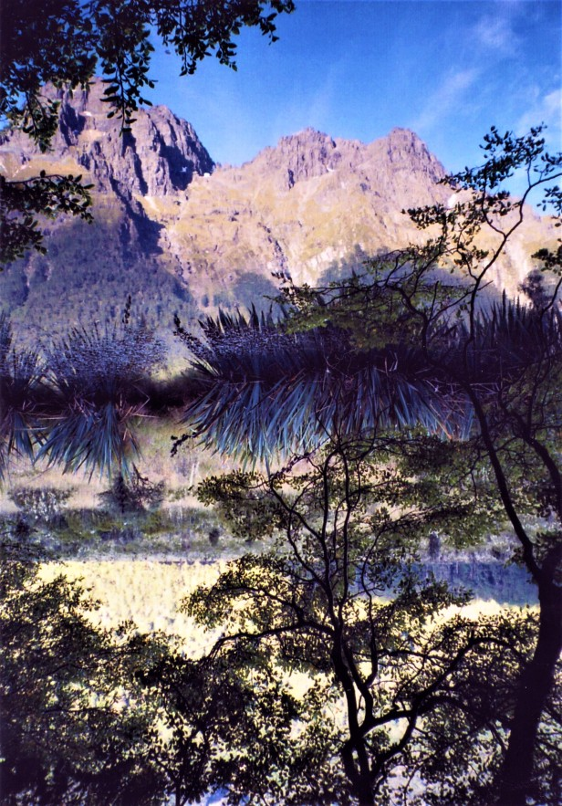 Mirror Lake, Fiordland, New Zealand