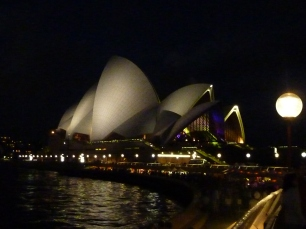 The graceful opera house by night