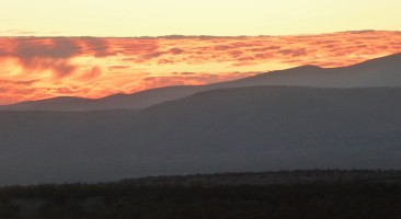Last flash of orange, near Las Cruces, NM