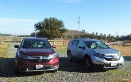 Marsha and Stan bought a CR-V just like mine... their yard looked like a Honda dealership!
