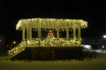 Christmas on the town square, Barre, Massachusetts