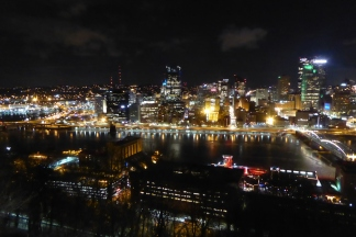 Gorgeous view of Pittsburgh from atop Mt. Washington, PA